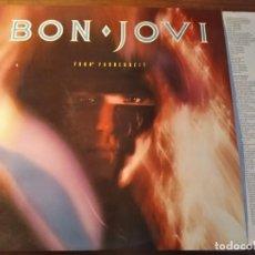 Discos de vinilo: BON JOVI - 7800º FAHRENHEIT **** RAR0 LP ESPAÑOL 1985 BUEN ESTADO. Lote 246342350