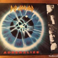 Discos de vinilo: DEF LEPPARD - ADRENALIZE **** RARO LP ESPAÑOL 1992 GRAN ESTADO. Lote 246343445