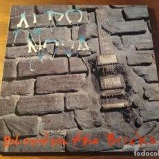 Discos de vinilo: ALDO NOVA - BLOOD ON THE BRICKS **** RARO LP ED. EUROPEA 1991 ARENA ROCK GRAN ESTADO. Lote 246344070