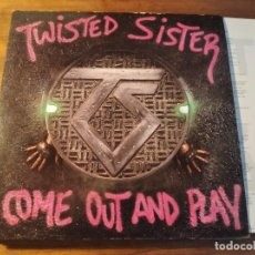 Discos de vinilo: TWISTED SISTER - COME OUT AND PLAY **** RARO LP USA 1985 POP UP SLEEVE BUEN ESTADO. Lote 246344640