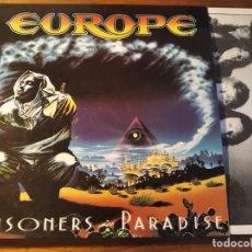 Discos de vinilo: EUROPE - PRISONERS OF PARADISE **** RARO LP ESPAÑOL 1991 GRAN ESTADO. Lote 246345515