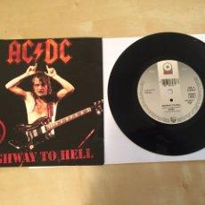 "Discos de vinilo: AC/DC - HIGHWAY TO HELL - RADIO PROMO SINGLE 7"" - 1992 - IMPECABLE. Lote 246348945"