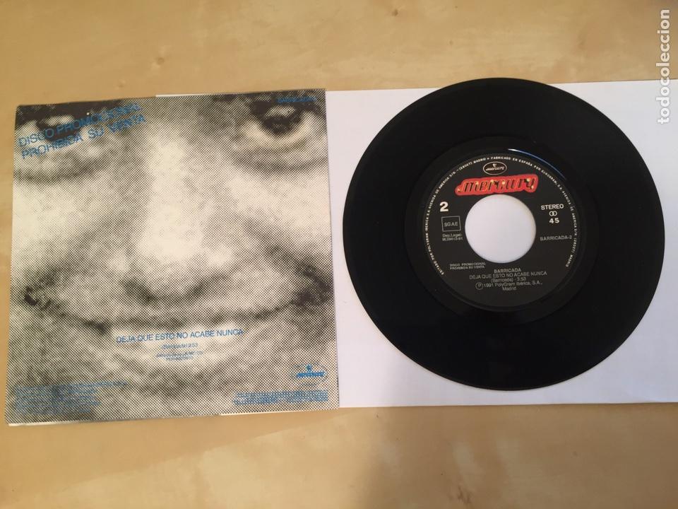 """Discos de vinilo: Barricada - Deja Que Esto No Acabe Nunca - RADIO PROMO SINGLE 7"""" - 1991 - Foto 3 - 246350445"""