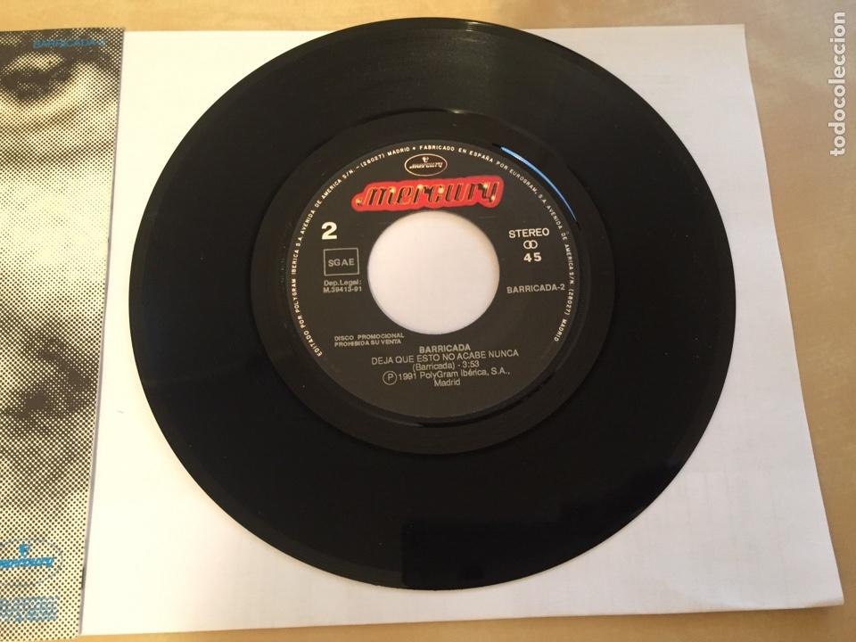 """Discos de vinilo: Barricada - Deja Que Esto No Acabe Nunca - RADIO PROMO SINGLE 7"""" - 1991 - Foto 4 - 246350445"""