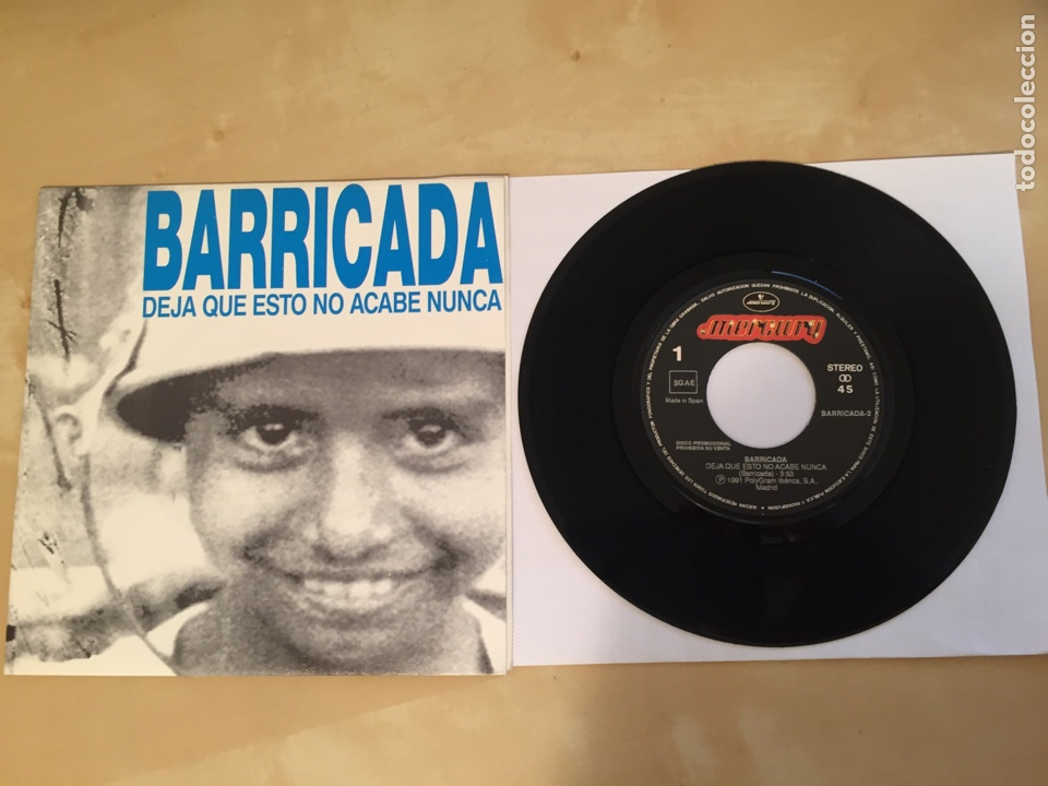 """BARRICADA - DEJA QUE ESTO NO ACABE NUNCA - RADIO PROMO SINGLE 7"""" - 1991 (Música - Discos - Singles Vinilo - Heavy - Metal)"""