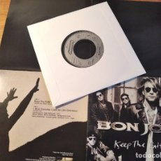 Discos de vinilo: BON JOVI - KEEP THE FAITH **** RARO SINGLE PORTADA DESPLEGABLE ED. EUROPEA 1992. Lote 246350680
