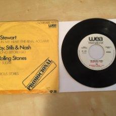 "Discos de vinil: ROLLING STONES - EP PROMO 7"" - ROD STEWART - YES - CROSBY STILL & NASH - 1977 - MEGA RARO. Lote 246355805"