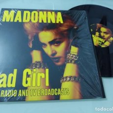 Discos de vinilo: MADONNA - BAD GIRL RARE RADIO AND TV BROADCAST .. LP DE EGG - RAID - 2017 - NUEVO. Lote 246358010