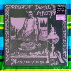 Discos de vinilo: DEVIL MASTER - MANIFESTATIONS 12'' LP NUEVO - PUNK BLACK METAL DEATHROCK. Lote 246365135