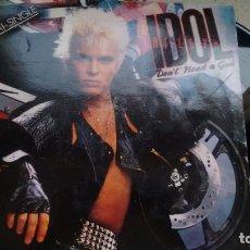 Discos de vinilo: MAXISINGLE (VINILO) DE BILLY IDOL AÑOS 80. Lote 246375950