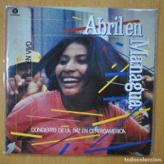 Discos de vinilo: VARIOUS - ABRIL EN MANAGUA - 2 LP GATEFOLD. Lote 246434690