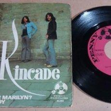 Discos de vinilo: KINCADE / DO YOU REMEMBER MARILYN? / SINGLE 7 PULGADAS. Lote 246435870