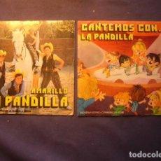 Discos de vinilo: 2 DISCOS DE LA PANDILLA: - CANTEMOS CON... Y AMARILLO - (SINGLES). Lote 246437625