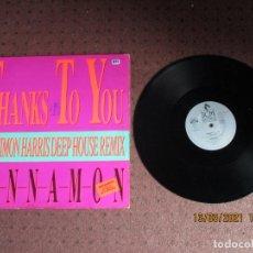 Discos de vinilo: SINNAMON - THANKS TO YOU - MAXI - GERMANY - BCM RECORDS - PLS 897 - L -. Lote 246441225
