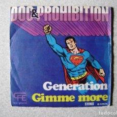 Discos de vinilo: DOC & PROHIBITION.GENERATION + 1.....PEDIDO MINIMO 5€. Lote 246447230