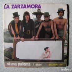 Discos de vinilo: LA ZARZAMORA.SI UNA PALOMA + 1.....PEDIDO MINIMO 5€. Lote 246448495
