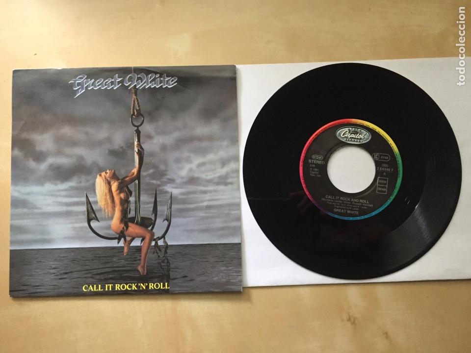 "GREAT WHITE - CALL IT ROCK'N'ROLL - SINGLE PROMO RADIO 7"" - 1991 (Música - Discos - Singles Vinilo - Heavy - Metal)"