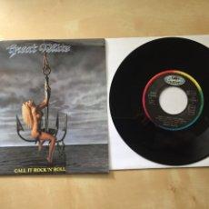 """Discos de vinilo: GREAT WHITE - CALL IT ROCK'N'ROLL - SINGLE PROMO RADIO 7"""" - 1991. Lote 246451710"""