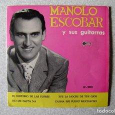 Discos de vinilo: MANOLO ESCOBAR.MISTERIO DE LAS FLORES + 3....PEDIDO MINIMO 5€. Lote 246452415