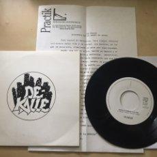 "Discos de vinilo: DE-KALLE - MUEVE LA CABEZA +1 - SINGLE PROMO RADIO 7"" - INCLUYE HOJA DE PRENSA - 1991. Lote 246454020"