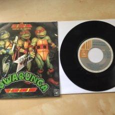 """Discos de vinilo: LAS TORTUGAS NINJA - COWABUNGA / CUENTA CON NOSOTROS (EN ESPAÑOL) - SINGLE RADIO 7"""" - 1991. Lote 246460435"""