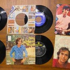 Discos de vinilo: MINA, SERRAT, COLACAO... 6 SINGLES VINILO MUY CURIOSO ALGUNO, MIRAR FOTOS.. Lote 246461915
