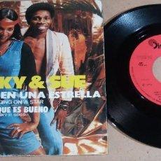 Discos de vinilo: SPOOKY & SUE / MECIENDOSE EN UNA ESTRELLA / SINGLE 7 PULGADAS. Lote 246467900