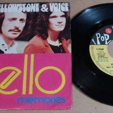 Discos de vinilo: YELLOWSTONE & VOICE / WELL HELLO / SINGLE 7 PULGADAS. Lote 246469615