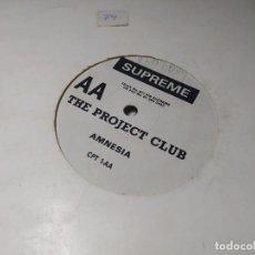Discos de vinilo: MAXI - THE PROJECT CLUB – DANCE WITH THE DEVIL - CPT 1-A ( VG+ / GENERIC) UK 1988. Lote 246471105