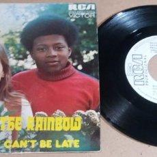 Discos de vinilo: CAFE CON LECHE / BACK OF THE RAINBOW / SINGLE 7 PULGADAS. Lote 246481295