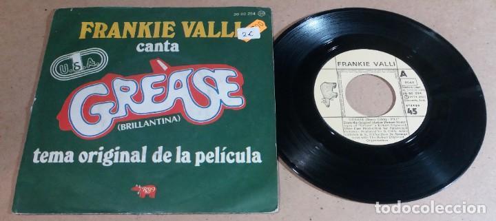 FRANKIE VALLI / GREASE / SINGLE 7 PULGADAS (Música - Discos - Singles Vinilo - Pop - Rock - Internacional de los 70)