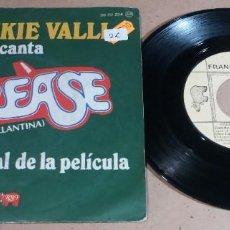 Discos de vinilo: FRANKIE VALLI / GREASE / SINGLE 7 PULGADAS. Lote 246482175