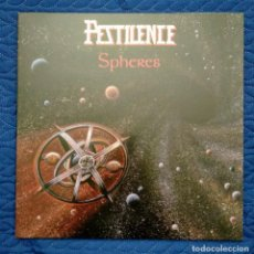 Discos de vinilo: IMPECABLE LP + POSTER - PESTILENCE / SPHERES - DEATH METAL (VER FOTOS). Lote 246482195