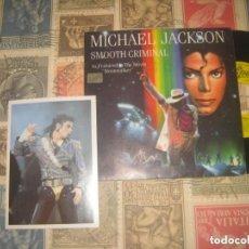 Discos de vinilo: MICHAEL JACKSON SMOOTH CRIMINAL FROM THE MOVIE (1987EPIC) PROMO + FOTO PÒSTAL PRIMERA EDICION ESPAÑA. Lote 246484315