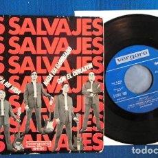 Discos de vinilo: LOS SALVAJES SINGLE EP CANCION CON ERROR BEATLES LENNON MCCARTNEY ESPAÑA AÑOS 60. Lote 246489080