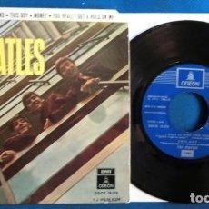 Discos de vinilo: BEATLES SINGLE EP EDITADO POR EMI ODEON ESPAÑA CAMBIO DE REFERENCIA Y LOGO. Lote 246491120