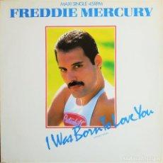Discos de vinilo: FREDDIE MERCURY - I WAS BORN TO LOVE YOU (EXTENDED VERSION), ESPAÑA 1985,CBS A 12.6019 (EX_EX). Lote 246492990