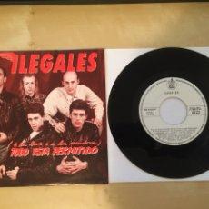 """Discos de vinilo: ILEGALES - (A LA LUZ O A LA SOMBRA) TODO ESTÁ PERMITIDO - SINGLE PROMO RADIO 7"""" - 1990. Lote 246521565"""