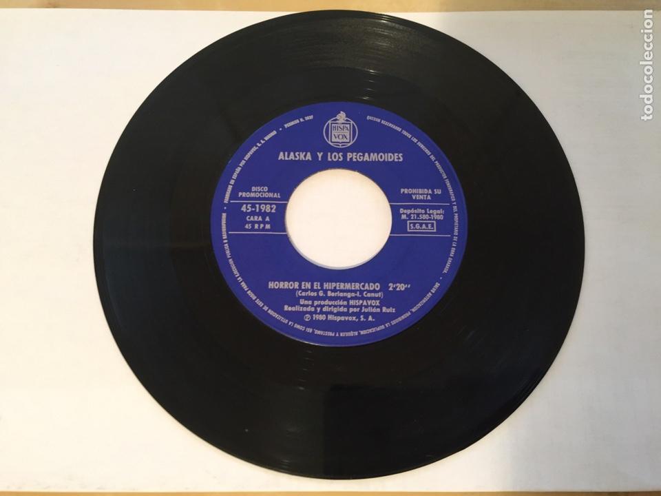 """ALASKA Y LOS PEGAMOIDES - HORROR EN EL HIPERMERCADO / HOSPITAL / ODIO - SINGLE PROMO RADIO 7"""" - 1980 (Música - Discos - Singles Vinilo - Grupos Españoles de los 70 y 80)"""