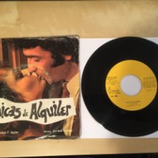 Discos de vinilo: CHICAS DE ALQUILER Y LAS MARGINADAS SINGLE SELLO VICTORIA AÑO 1975 - BANDA SONORA - ULTRA RARO. Lote 246540445