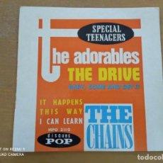 Discos de vinil: THE ADORABLES THE CHAINS THE DRIVE EP 1963. Lote 246549405
