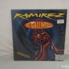 Discos de vinilo: VINILO 12´´ - MAXI-SINGLE - RAMIREZ EL GALLINERO REMIXES / BLANCO Y NEGRO. Lote 246551450