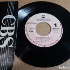 Discos de vinilo: ALEXANDER O'NEAL / NEVER KNEW LOVE LIKE THIS / SINGLE 7 PULGADAS. Lote 246551890
