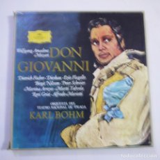 Discos de vinilo: ORQUESTA DEL TEATRO NACIONAL DE PRAGA / KARL BOHM - DON GIOVANNI. MOZART. - CAJA 4 LPS+LIBRETO. Lote 246553135