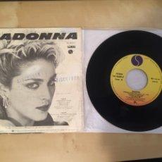 """Discos de vinilo: MADONNA - ARDIENDO - SINGLE RADIO 7"""" - 1983 ESPAÑA. Lote 246553200"""