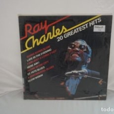 Discos de vinilo: VINILO 12´´ - LP - RAY CHARLES - 20 GREATEST HITS / HAPPY BIRD. Lote 246553295