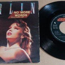 Discos de vinilo: BERLIN / NO MORE WORDS / SINGLE 7 PULGADAS. Lote 246553380