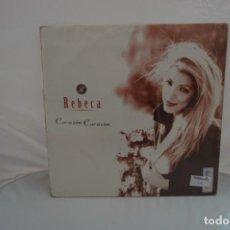 Discos de vinilo: VINILO 12´´ - MAXI-SINGLE - REBECA - CORAZON CORAZON / MAX MUSIC. Lote 246553975