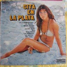 Discos de vinilo: 10 PULGADAS - CITA EN LA PLAYA - VARIOS (SPAIN, DISCOS ORLADOR 1971). Lote 246563940