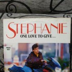 Discos de vinilo: STEPHANIE - ONE LOVE TO GIVE. Lote 246573860